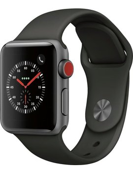 Geek Squad Certified Refurbished Apple Watch Series 3 (Gps + Cellular), 38mm With Gray Sport Band   Space Gray Aluminum by Apple