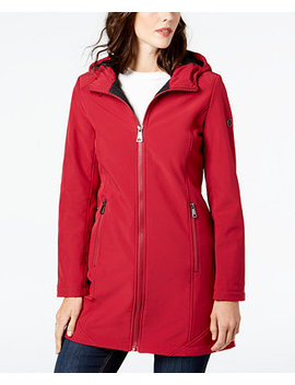 Hooded Stretch Raincoat by Calvin Klein