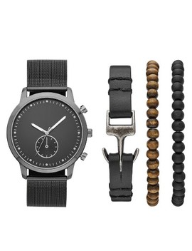 Men's Mesh Strap Watch Set   Goodfellow & Co™ Black by Goodfellow & Co