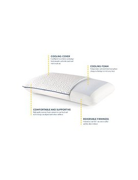 Revel Customfeel Reversible Memory Foam Pillow With Dual Cooling Action, Made In The Usa With A 5 Year Warranty, Amazon Exclusive, Queen, White by Revel