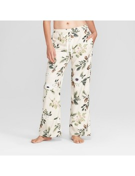 Women's Floral Print Flannel Pajama Pants   Gilligan & O'malley™ Cream by Gilligan & O'malley