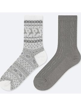 Boys Heattech Socks (Two Pairs) by Uniqlo