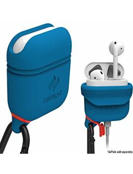 Waterproof Airpods Case Cover By Catalyst, Shockproof And Drop Proof Air Pods Protective Cover Soft Skin, Anti Lost Carabiner, Silicone Sealing, Charging   Blueridge/Sunset by Catalyst