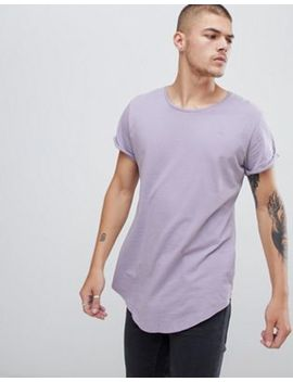 G Star Vontoni Long Line T Shirt In Lilac by G Star