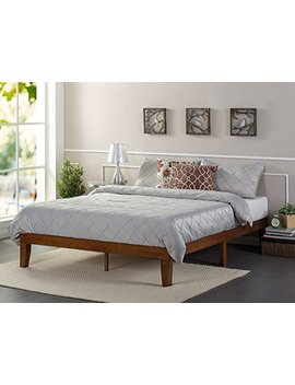 Zinus 12 Inch Wood Platform Bed/No Boxspring Needed/Wood Slat Support/Cherry Finish, King by Zinus