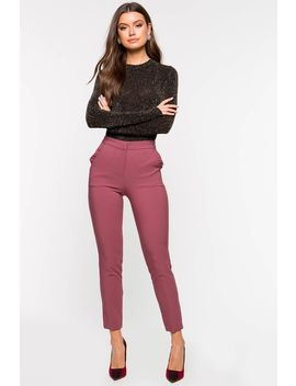 Ruffle Pocket Trouser by A'gaci