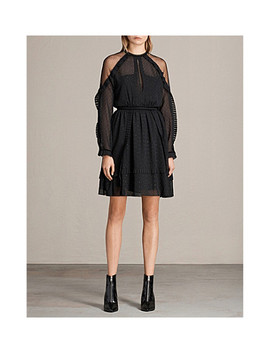 Ivy Ruffle Trimmed Fil Coupé Mini Dress by Allsaints