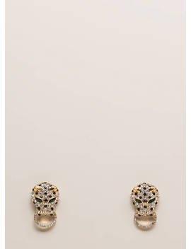 Once A Cheetah Jeweled Leopard Earrings by Go Jane