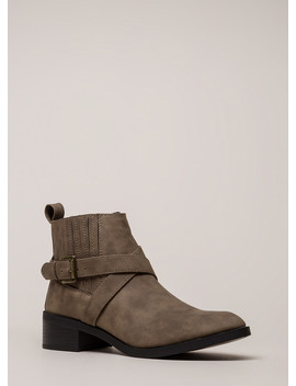 The Whole Gang Strappy Moto Booties by Go Jane