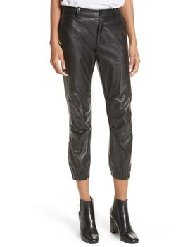 French Military Leather Crop Pants by Nili Lotan