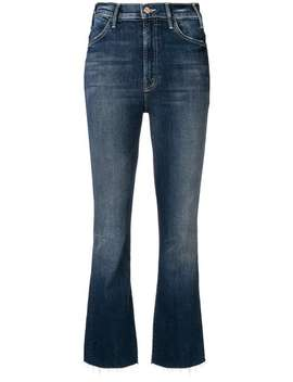 Frayed Bootcut Cropped Jeans by Mother