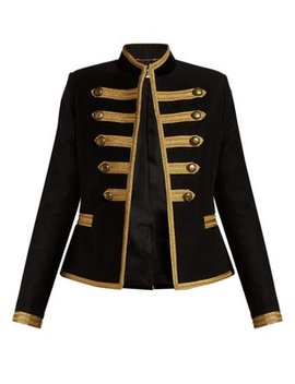 Metallic Trim Military Jacket by Matches Fashion