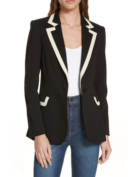 Chester Contrast Trim Blazer by Alice + Olivia