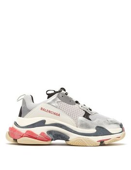 Triple S Low Top Leather Trainers by Matches Fashion