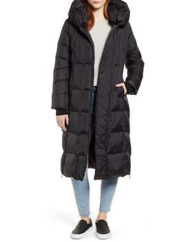 Pillow Collar Quilted Down Long Coat by Sam Edelman