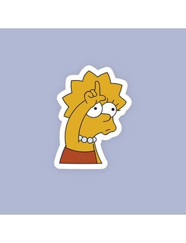 Funny Lisa Simpson Loser Sticker/Cute Funny Simpsons Popular Sticker/The Simpsons Vinyl Stickers by Etsy