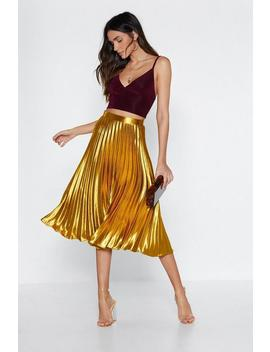 Let's Get Moving Pleated Skirt by Nasty Gal