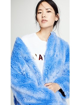 Faux Fur Long Coat by Msgm