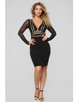 Saturday Night Fever Dress   Black by Fashion Nova