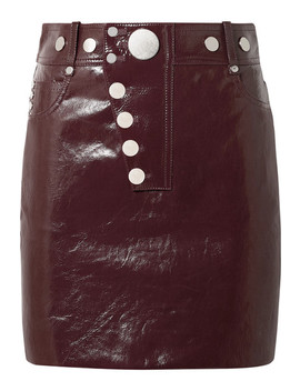 Patent Leather Mini Skirt by Alexander Wang