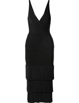 Fringed Bandage Midi Dress by Hervé Léger