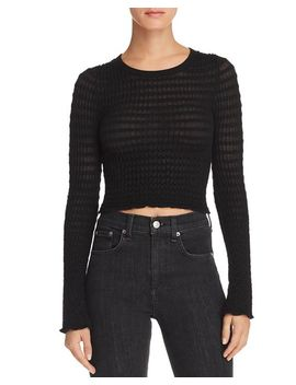 Textured Crop Top by T By Alexander Wang