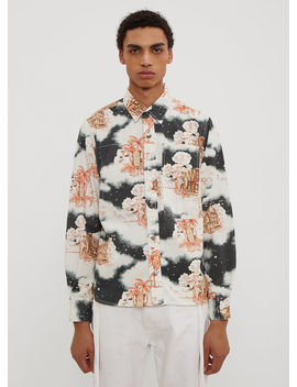 Hawaiian Worker Shirt In White by Vyner Articles