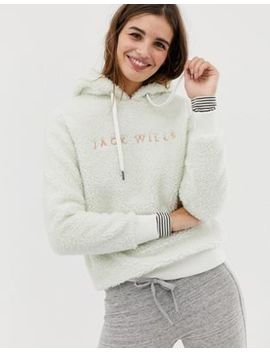 Jack Wills Fleece Hoodie With Embroidered Logo by Jack Wills
