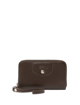 Le Pliage Leather Zip Wallet by Longchamp