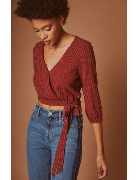 Me To We Long Sleeve Wrap Top by Pacsun