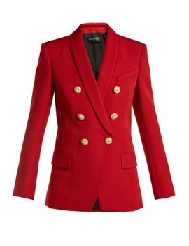 Double Breasted Wool Blazer by Matches Fashion