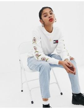 Tommy Jeans Capsule Crest Logo Longsleeve T Shirt by Tommy Jeans Capsule