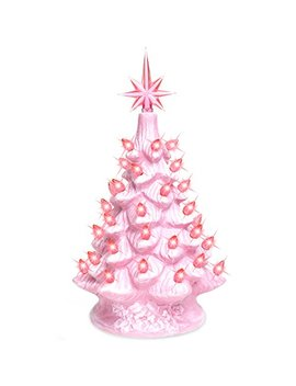 "Best Choice Products 11"" Prelit Ceramic Tabletop Christmas Tree With Lights by Best Choice Products"