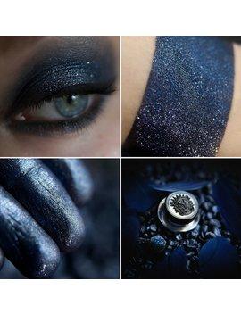 Eyeshadow: Lady Night   Undead. Blue And Silver Glittering Eyeshadow By Sigil Inspired. by Etsy