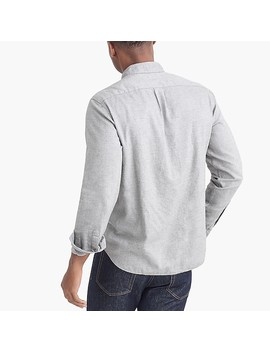 Slim Fit Heather Flex Shirt In Brushed Twill by J.Crew