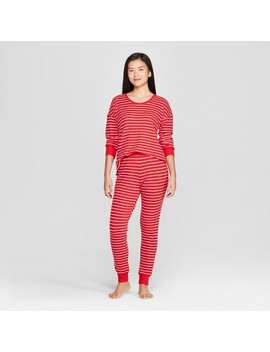 Women's Striped Pajama Set   Gilligan & O'malley™ Red by Gilligan & O'malley