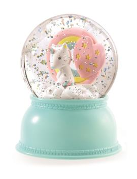 Unicorn Snow Globe Night Light by Djeco