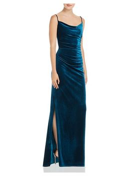 Ruched Velvet Gown   100 Percents Exclusive by Laundry By Shelli Segal