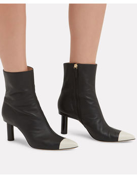 Grant Leather Booties by Tibi
