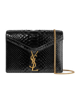 Cassandra Python Shoulder Bag by Saint Laurent
