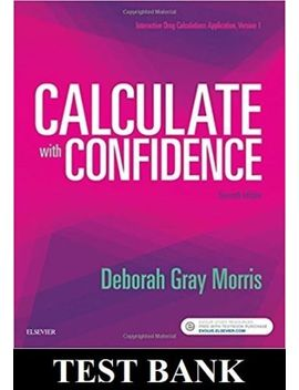 Test Bank Calculate With Confidence 7th Edition   Not A Book by Ebay Seller