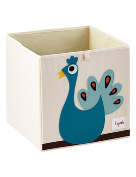3 Sprouts Peacock Storage Cube by Container Store