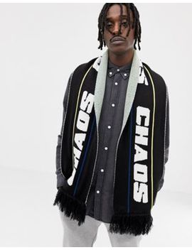 Asos Design Football Scarf In Black by Asos Design