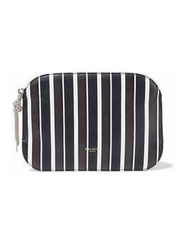 Elide Striped Textured Leather Pouch by Nina Ricci