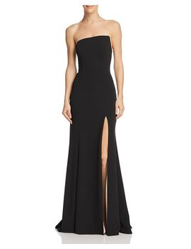 Strapless Scuba Crepe Gown   100 Percents Exclusive by Aqua