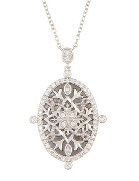 Hammered Shield Pendant Necklace by Freida Rothman