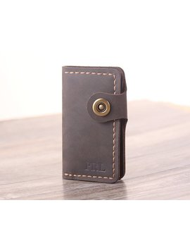 Handmade Leather Key Wallet   Personalized Hand Stitched Leather Key Holder    Minimalist Key Wallet Christmas Gift by Etsy