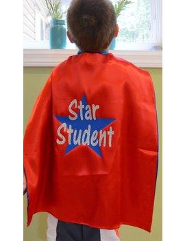 Star Student Cape   Classroom Cape   Classroom Reward Cape   Super Classroom Cape   Ships Quickly by Etsy