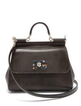 Sicily Medium Iguana Effect Leather Bag by Matches Fashion