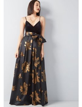 Stately Greatness Floral Maxi Dress by Eliza J